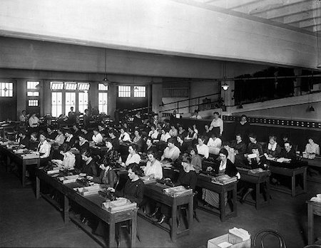 Photo of large-scale human tabulating operation